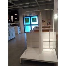 (3Kg) IKEA MULIG, RAK JEMURAN GANTUNGAN BAJU, PUTIH