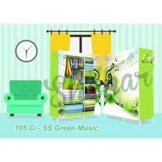 Jual 3Kg Lemari Karakter 105Ci Ss Green Music Buka Samping Online