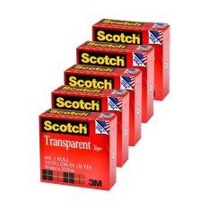 Toko 3M Scotch Tape Magic 600 3 4 X 36Y Isolasi Selotip Bening 5 Buah Merah Termurah