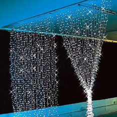 3 M X 3 M 300 Led Natal Tali Pernikahan Luar Ruangan Tirai Peri Lampu 220 V 110 V Berwarna Merah Muda Oem Diskon 30