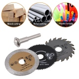 Review 3 Pcs 54 8Mm Hss Mini Kayu Circular Saw Blade Cutting Blade Rotary Tool Mandrel Intl Oem