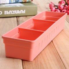 3 Pcs Lemari Laci Sendok Garpu Organizer Kotak Penyimpanan Sendok Garpu Bekas Perkakas Dapur Merah-Intl
