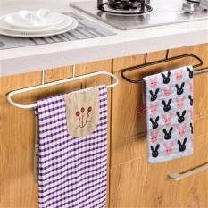 3 Pcs Dapur Pintu Besi Single Rak Kamar Mandi Handuk Rel Dudukan Bar Gantungan Kait-Internasional