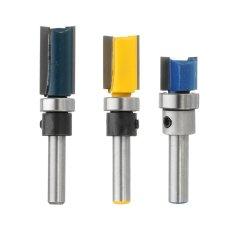 Ulasan Lengkap 3Pcs Set 1 4 Shank Alloy Bearing Flush Trim Pattern Router Bit Milling Cutter Intl