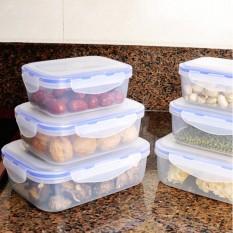 3 Pcs Transparan Tertutup Rak Set Makanan Plastik Kotak Penyimpanan Dapur Kulkas Wadah-Internasional