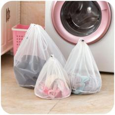 3 Pcs Mesin Cuci Digunakan Mesh Net Tas Kantong Cucian Tebal Wash Bags (putih)-Intl