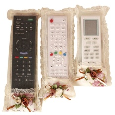 3pcs/set Home Pastoral Flower Cloth Art Remote Control Sets Tv Air Conditioning Remote Control Dust Cover