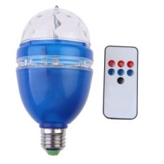 3W AC85-260V RGB LED Full Color Rotating Lamp with Remote Control (Blue) - intl