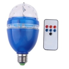 3 W AC85-260V RGB LED Full Color Rotating Lamp Menggunakan Remote Control Biru)-Intl