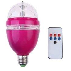 3 W AC85-260V RGB LED Full Color Rotating Lamp dengan Remote Control (Merah)-Intl