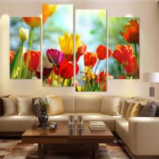4 Buah Dekorasi Rumah Lukisan Cat Minyak These Flowers Indah HD Gambar Kanvas Seni Cetak Di Dinding For Ruang Tamu ZC306-Internasional
