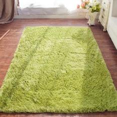 Promo 4 Cm Rambut Sutra Ruang Tamu Meja Kopi Karpet Kamar Hijau Muda Oem