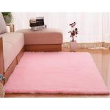 Jual 4 Cm Rambut Sutra Ruang Tamu Meja Kopi Karpet Kamar Berwarna Merah Muda 80X160 Internasional Urban Preview Asli