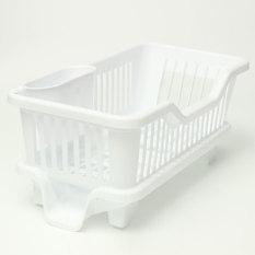 4 Warnd Dapur Cuci Piring Rak Pengeringan Dudukan Basketorganizer Baki Putih-Intl