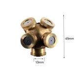 Beli 4 Lubang Logam Kuningan Spray Nozzle Taman Rumput Impulse Penyiram Air Intl Aukey Asli