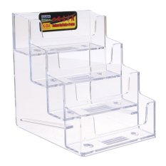 4 Layer Lipstick Clear Office Eraser Counter Acrylic Card Holder Stand Display - intl