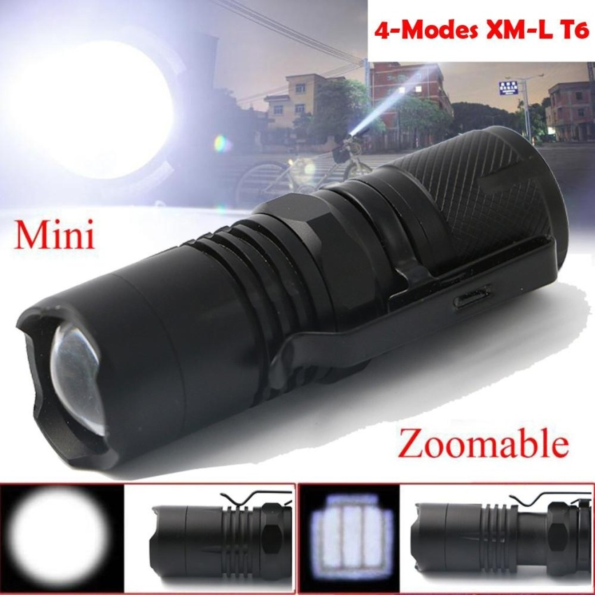 Spesifikasi 4 Modes Zoomable Xm L T6 Led Flashlight Torch Super Bright Light 16340 Battery Intl Paling Bagus
