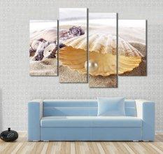 4 Panel Pearl Kerang Modern HD Gambar Cetak Lukisan Di Atas Kanvas Karya Seni untuk Dekorasi Ruang Tamu Unframed Berkualitas Tinggi