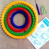 Harga 4 Pcs Set Diy Round Lingkaran Hat Perajut Merajut Loom Kit 4 Ukuran 14 Cm 19 Cm 25 Cm 30 Cm Oem Asli