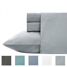 4 Piece Cotton Blend Sheet Set-Luxury 700 Thread Count Bed Sheets-Pudar, Tahan Kerut, Sateen Weave, Bedsheets dengan Deep Pocket Oleh California Design Den-Intl