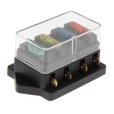 Harga 4 Way Circuit Blade Fuse Box Block Holder 12 V 24 V Fuse Intl Easygobuy Online