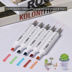 Katalog 40 Colors Dual Twin Tip Marker Marking Pens Art Sketch Highlighters For Colorful Graphic Drawing Coloring Painting Highlighting Underlining Intl Terbaru