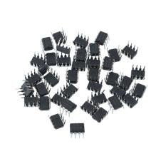 Diskon 40 Buah Logam Plastik Ne555P 555 Dip 8 Ic Timer Kit Listrik 9X5X7Mm Akhir Tahun