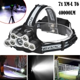 Toko 40000 Lm 7X Xm L T6 Led Rechargeable Headlamp Headlight Travel Kepala Senter Intl Oem Tiongkok