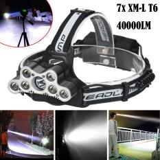Harga 40000 Lm 7X Xm L T6 Led Rechargeable Headlamp Headlight Travel Kepala Senter Intl Oem Ori