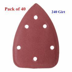 Spesifikasi 40X4 240 Grit Mouse Amplas Lembaran Cakram Triangle Penggiling Kertas Pad Intl Oem