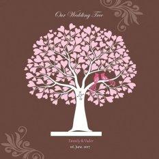 Jual 40X30 Cm Buku Tamu Pernikahan Signature Dengan Kanvas Yang Dicat Gaya 2 Intl