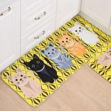 Toko 40X60 Cm Hewan Kucing Dicetak Karpet Kamar Mandi Dapur Doormats Kawaii Kitty Anti Slip Lantai Mat Untuk Ruang Tamu Room Bath Kitchen Kuning Intl Tiongkok