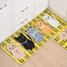 Harga 40X60 Cm Hewan Kucing Dicetak Karpet Kamar Mandi Dapur Doormats Kawaii Kitty Anti Slip Lantai Mat Untuk Ruang Tamu Room Bath Kitchen Kuning Intl Yang Murah