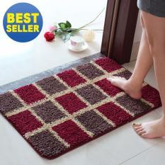 Harga 40X60 Cm Pola Dicetak Kamar Mandi Karpet Keset Anti Slip Polyester Floor Mat Pad Untuk Ruang Tamu Bath Dapur Square Pola Intl Seken