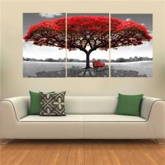 40 Cm X 60 Cm Merah Pohon Modern Lukisan Cat Minyak Di Atas Kanvas Abstrak Seni