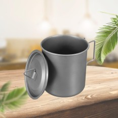 420 Ml Titanium Pot Outdoor Camping Hiking Piknik Travel Bowl Water Drink Cup Mug Sliver-Intl