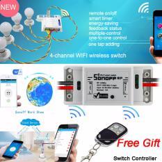Toko Sonoff 433Mhz Wifi Switch Wireless Remote Control Listrik Untuk Peralatan Rumah Tangga Untuk Smart Home Wifi Untuk Pengendali Jarak Jauh Gratis Online Terpercaya