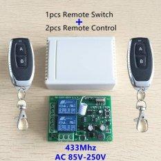 433 MHz Universal Wireless Remote Control Switch AC 250 V 110 V 220 V 2CH Relay Modul Penerima dengan Pemurnian Segar Fungsi Purple Warna Pcs RF 433 MHz Remote Kontrol