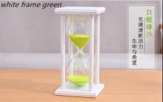 45 Menit Kaca Crystal Hourglass Perabot Rumah Kreatif Kerajinan Hadiah Kantor Meja Ornamen Kayu Jam Pasir Waktu-Intl