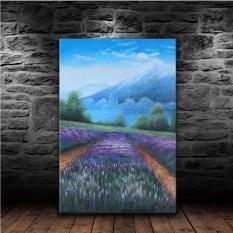 45x70 Cm Wall Art Canvas Mencetak Lukisan Cat Minyak Asli Wall ArtBlue Lavender Field Dalam Bahasa Perancis Mountain Countyside Minyak Lukisan Naturalismfor Kamar Tidur Ruang Tamu Dekorasi Rumah Unframed