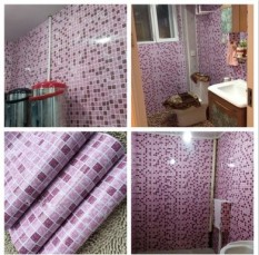 Rp 172.000 45*300 Cm Bathroom Wall Stiker PVC Mosaic Wallpaper .