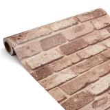 Spek 45 Cm X 10 M 3D Wallpaper Pola Batu Bata Berperekat Dekorasi Kertas Dinding Tahan Terhadap Udara 1 Internasional