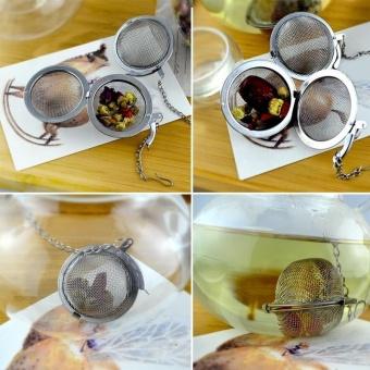 4.5 Cm Stainless Steel Infuser Saringan Mesh Tea Leaf Filter Spice Ball-Intl