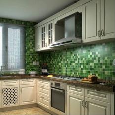 Toko 45 Cm X 200 Cm Mosaik Aluminium Foil Yg Perekat Anti Minyak Pelapis Dinding Hijau Intl Terdekat