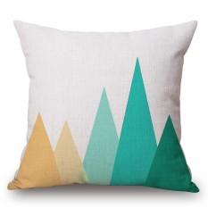 45x45 Cm Katun Linen Bantal Square Sarung Bantal Geometri Sederhana Printing Cushion Cover Mobil Sofa Tempat Tidur Dekorasi Spesifikasi: Mountain Ukuran: 45 Cm X 45 Cm-Internasional