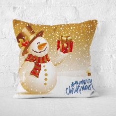45x45 Cm Tahun Baru Hadiah Natal Bantal Cover untuk Rumah Dekoratif Salju Bantal Pendek Plush Cushion Covers -Intl