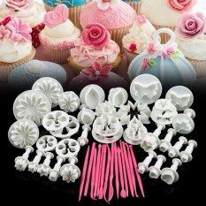 Harga 47 Pcs Bunga Sugarcraft Fondant Icing Plunger Cetakan Kue Dekorasi Alat Internasional Asli
