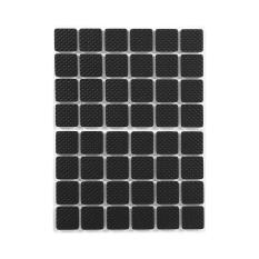 48 Pcs Non-slip Self Adhesive Pelindung Lantai Furniture Sofa Meja Kursi Kaki Karet Pads (Hitam) -Intl