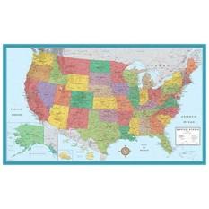 48X78 Besar Amerika Serikat, Amerika Serikat Klasik Elite Peta Dinding Laminated-Internasional