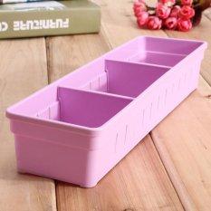 4 Pcs Lemari Laci Sendok Garpu Organizer Kotak Penyimpanan Sendok Garpu Bekas Peralatan Dapur Ungu-Intl
